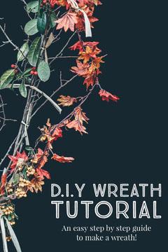 Navy DIY Wreath Tutorial Pinterest Tutorial
