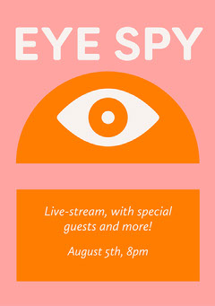 Pink and Orange Eye Podcast Ad Flyer  Stream