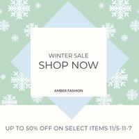 winter sale instagram post Social Media Marketing