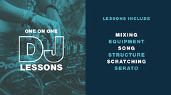 Blue and White Dj Lesson Ad Twitter Banner DJ
