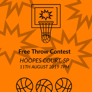 Orange and Black Free Throw Contest Card Cartazes de jogos