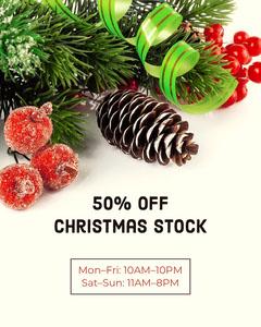 White Christmas Sale Instagram Portrait Holiday Sale