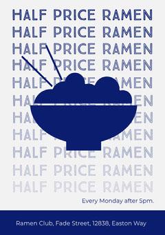 half price ramen flyer Ramen