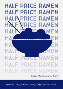 half price ramen flyer Food Flyer