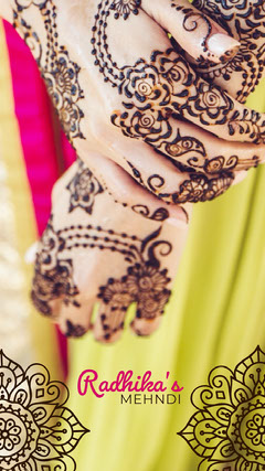 Indian Wedding Snapchat Story with Hands Tattoo Flyer