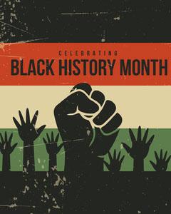 Black, Red, Green and Beige Black History Month Instagram Portrait History
