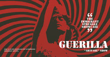 Red, Black and White Art Show Ad Facebook Banner Capa do Facebook