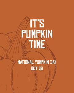 national pumpkin day instagram portrait Fall