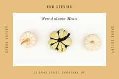 Brown and White New Autumn Menu Autumn