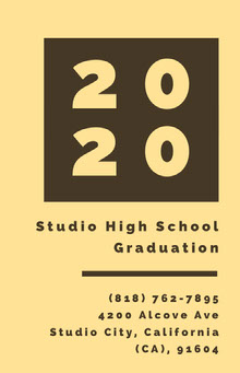 Black and Yellow Graduation Poster School Posters