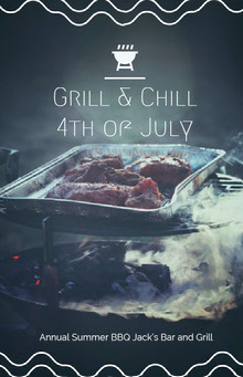 Grill & Chill<BR>4th of July BBQ Menu