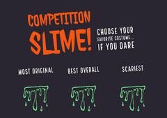 Halloween Slime Party Costume Card Halloween Costume Contest