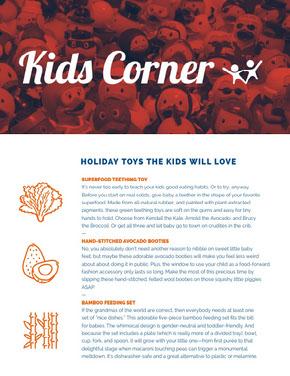 Children Toys Newsletter Graphic Newsletter
