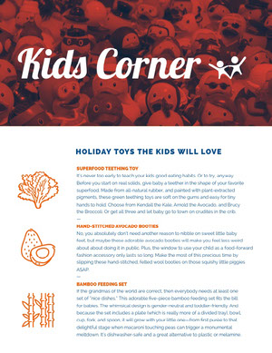 Kids Corner Newsletter