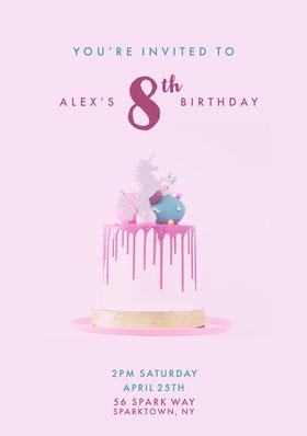 birthdaypartyinvitation Birthday Invitation (Girl)