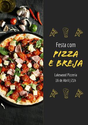 Pizza e breja Convites