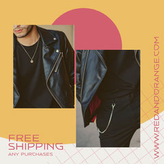 Free Shipping Instagram Square Red