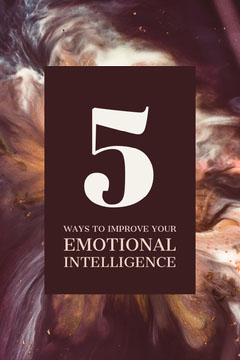 Outer Space Style Ways to Improve Emotional Intelligence Pinterest Graphic Space