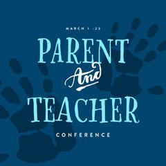 Blue Toned Conference Announcement Instagram Post Teacher