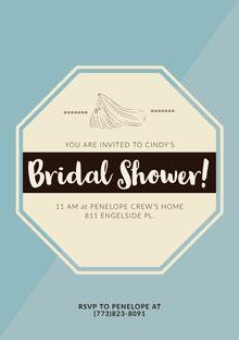 Bridal Shower! Convite de casamento