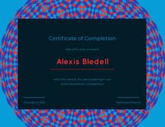 hackathon achievement certificate Education
