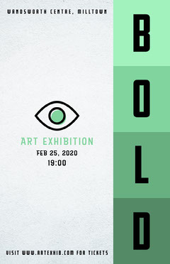 Bold Art Poster Collage Exhibition