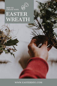 Easter Wreath Pinterest Post Crafts