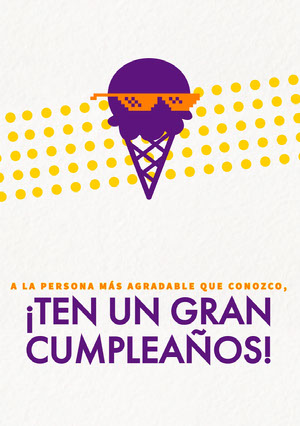 coolest person birthday cards  Invitación de cumpleaños