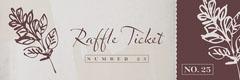 Valentine's Day Dinner Party Raffle Ticket Valentine's Day