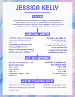 Pastel Colored Graphic Designer Resume Designer