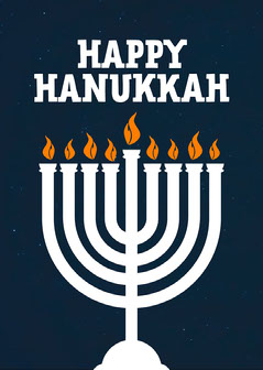 Simple Happy Hanukkah Card Hannukkah