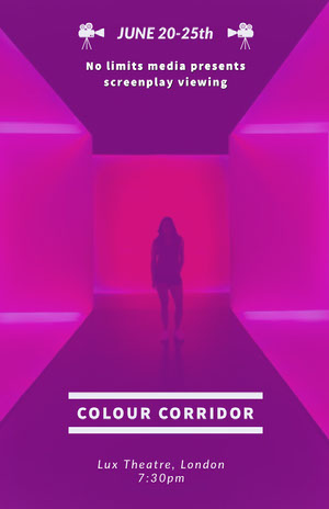 COLOUR CORRIDOR Pink Flyers