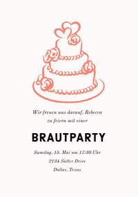BRAUTPARTY Invitations