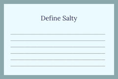 Define Salty Education
