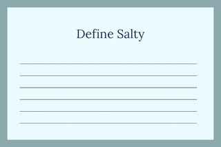 Define Salty Flashcard