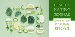Green and White Healthy Eating Seminar Social Post Seminar Flyer