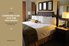 Brown, Light Toned Hotel Stay Ad Facebook Banner Hotels