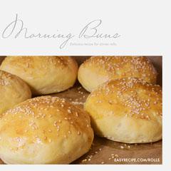 Bread Roll Recipe Instagram Square Graphic Bakery