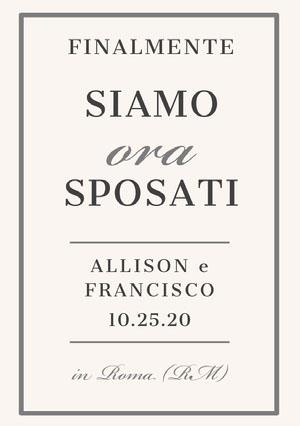 we finally tied the knot wedding announcements  Annunci di matrimonio