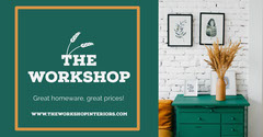 Green Furniture Store Facebook Post Ad Interior Design