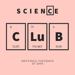 Pink Periodic Table Chemistry Science Club Instagram Square Science