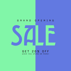 grand opening sale instagram Grand Opening Flyer
