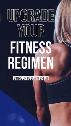 gym ad Instagram story  Gym