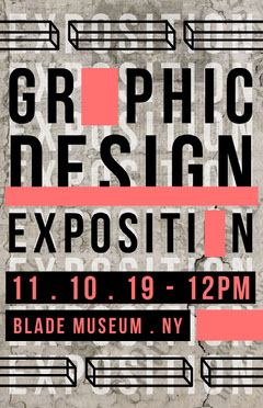 graphic design poster Exhibition