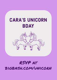 CARA'S UNICORN BDAY Girls