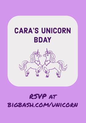 White and Violet Birthday Invitation Birthday Invitation (Girl)