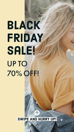 black fFriday day sale fashion igstory Thanksgiving Sale