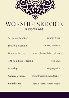 Yellow Church Program Flyer Service