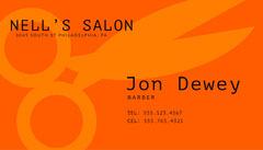 Orange Modern Barber Business Card Business