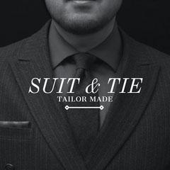 Black and White Tailor Ad Instagram Post  Men